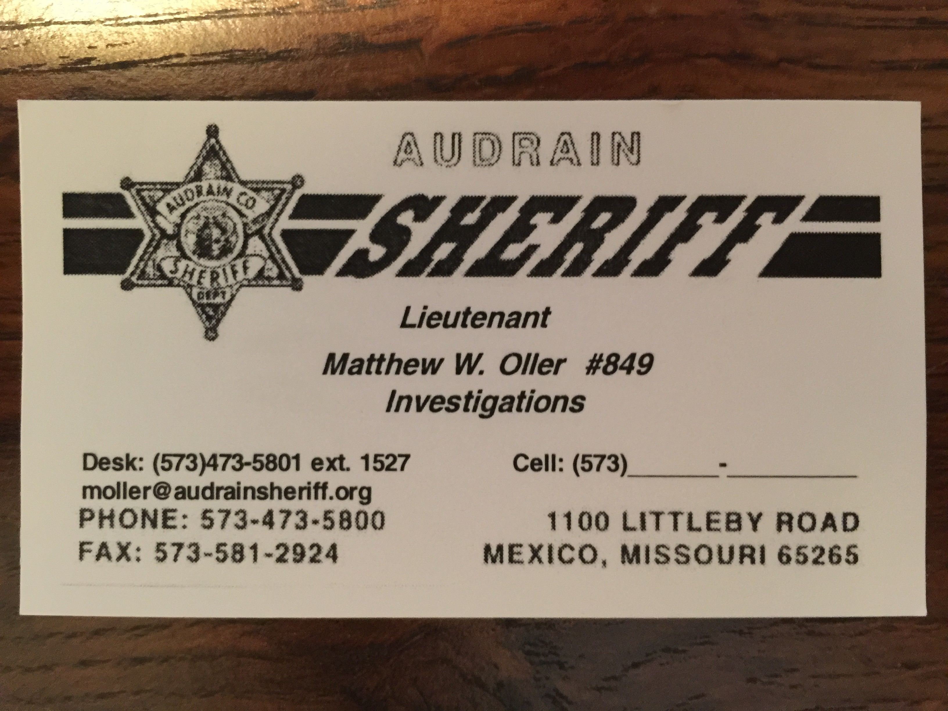 Another drug task force violates sunshine law bans public from this is the business card provided by the officer who removed show me cannabis staff from a public meeting magicingreecefo Image collections